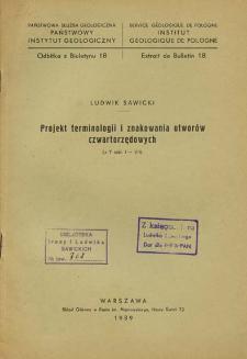 Projekt terminologii i znakowania utworów czwartorzędowych