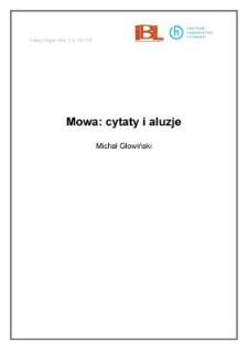 Mowa: cytaty i aluzje