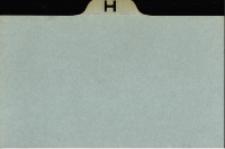 Katalog Protozoa: H