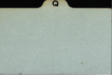 Katalog Protozoa: Q