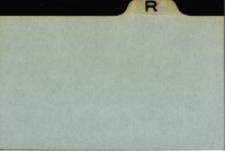 Katalog Protozoa: R