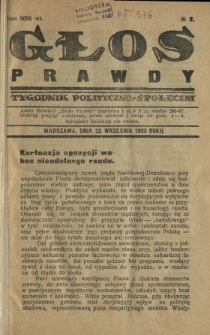 Głos Prawdy 1923 N.2