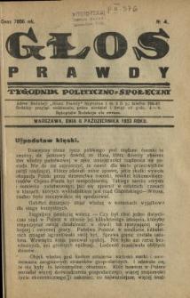 Głos Prawdy 1923 N.4