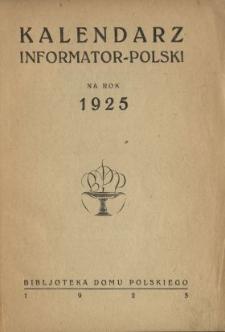 Kalendarz Informator - Polski na Rok 1925