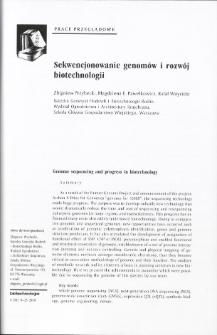 Sekwencjonowanie genomów i rozwój biotechnologii