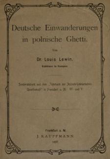 Deutsche Einwanderungen in polnische Ghetti