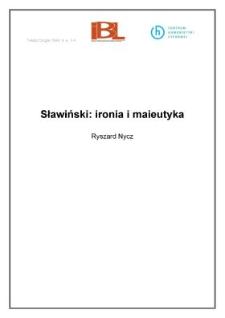 Sławiński: ironia i maieutyka