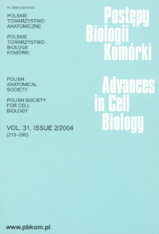 Postępy biologii komórki, Tom 31 nr 2, 2004