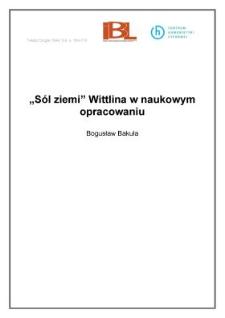 """""""Sól ziemi"""" Wittlina w naukowym opracowaniu"""