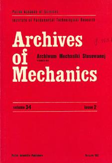 Archives of Mechanics Vol. 34 nr 2 (1982)