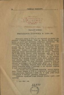 Propaganda żydowska w 1539-40