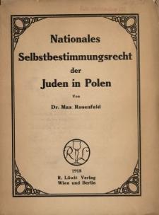 Nationales Selbstbestimmungsrecht der Juden in Polen