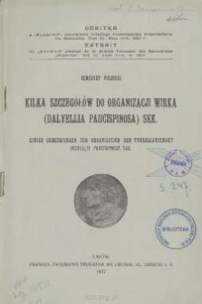Kilka szczegółów do organizacji Wirka (Dalyelua Paucispinosa) Sek = Einige Bemerkungen zur Organisation der Turbellarienart Dalyellia paucispinosa Sek