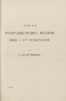Üeber die Poincaré'schen Reihen der (— l)ten Dimension