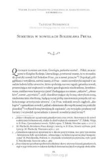 Symetria w nowelach Bolesława Prusa