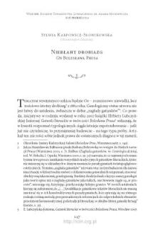 """Niebłahy drobiazg. """"On"""" Bolesława Prusa"""