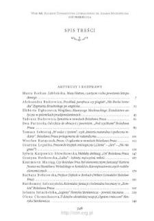 Wiek XIX, Rok VII (XLIX) 2014, Spis treści