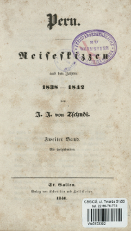 Peru : Reiseskizzen aus den Jahren 1838-1842. Bd. 2