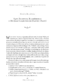 Sądy Zygmunta Krasińskiego o Michale Czajkowskim (Sadyku-Paszy)