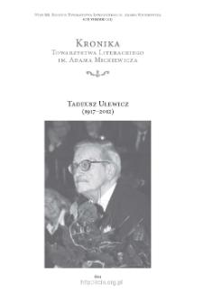 Tadeusz Ulewicz (1917–2012) − Był tu wśród nas… (Wspomnienie o Profesorze Tadeuszu Ulewiczu)