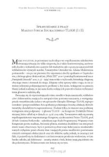 Sprawozdanie z pracy Małego Forum Edukacyjnego TLiAM (I i II)