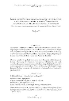 Wykaz odczytów oraz imprez naukowych i kulturalnych zorganizowanych przez oddziały Towarzystwa Literackiego im. Adama Mickiewicza w roku 2012