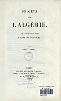 Projets sur l'Algérie
