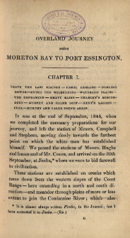 Journal of an overland expedition Australia, from Moreton Bay to Port Essington, a distance of upwards of 3000 miles, during the years 1844-1845