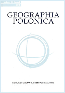Geographia Polonica Vol. 92 No. 1 (2019), Contents