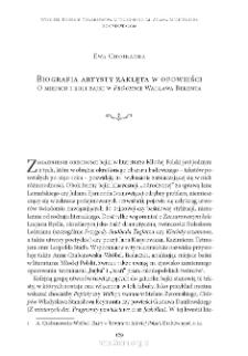 """Biografia artysty zaklęta w opowieści. O miejscu i roli bajki w """"Próchnie"""" Wacława Berenta"""