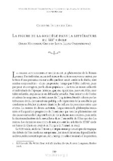 La figure de la sorcière dans la littérature du XIXe siècle (Jules Michelet, George Sand, Eliza Orzeszkowa)