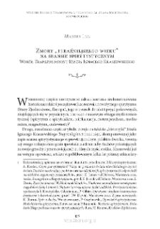 """Zmory """"teraźniejszego wieku"""" na seansie spirytystycznym Wokół """"Trapezologionu"""" Józefa Ignacego Kraszewskiego"""