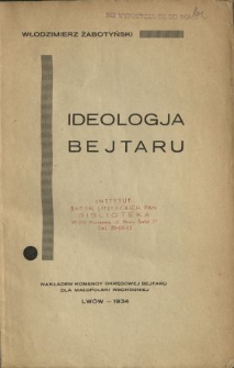 Ideologja Bejtaru : zarys bejtarowego światopoglądu