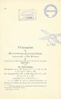 Uebersicht der Sumatra-Pyralidae