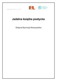 Jadalna książka poetycka