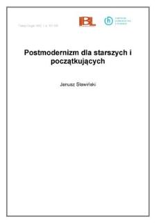 Postmodernizm dla starszych i początkujących