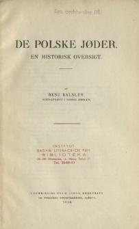 De polske Joder : en historisk oversigt