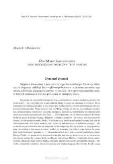 """""""Dym"""" Marii Konopnickiej jako dziewiętnastowieczny trop """"vanitas"""""""
