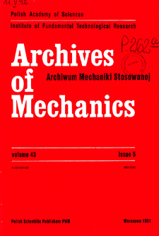 Archives of Mechanics Vol. 43 nr 5 (1991)