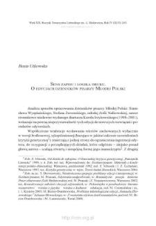 Sens zapisu i logika druku. O edycjach dzienników pisarzy Młodej Polski