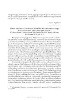 """Joanna Zajkowska, """"Twórczość poetycka Wiktora Gomulickiego wobec literackich tradycji i współczesności"""". Warszawa 2010"""