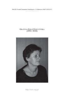 Grażyna (Inka) Syryczyńska (1954–2010)