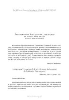 Życie codzienne Towarzystwa Literackiego im. Adama Mickiewicza (debata przedzjazdowa)