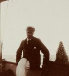 Konstanty Janicki na pokładzie kutra