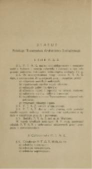 Statut Polskiego Towarzystwa Anatomiczno-Zoologicznego