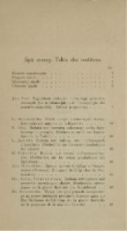Spis rzeczy [Pamiętnik I-go Zjazdu Anatomiczno-Zoologicznego w Warszawie 30.X-2.XI.1926]