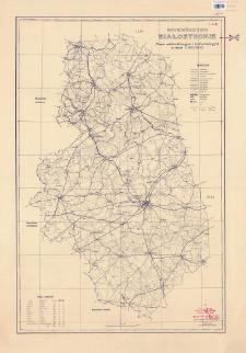 Województwo białostockie : mapa administracyjna i komunikacyjna w skali 1:300 000