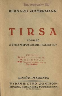 Tirsa : powieść z życia współczesnej Palestyny