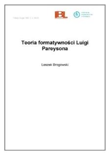 Teoria formatywności Luigi Pareysona