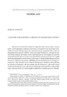 Tajemnica rozbójnika: drobiazg mickiewiczowski